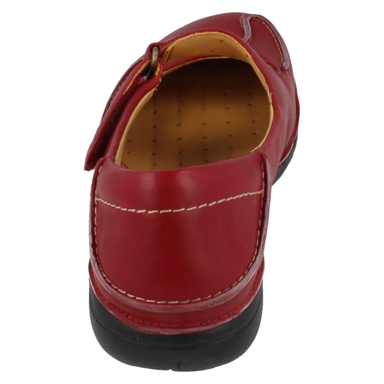 Ladies Clarks Clarks Clarks Unstructured Claret Leather Hook & Loop  shoes UN GLITTER D Fit 215324