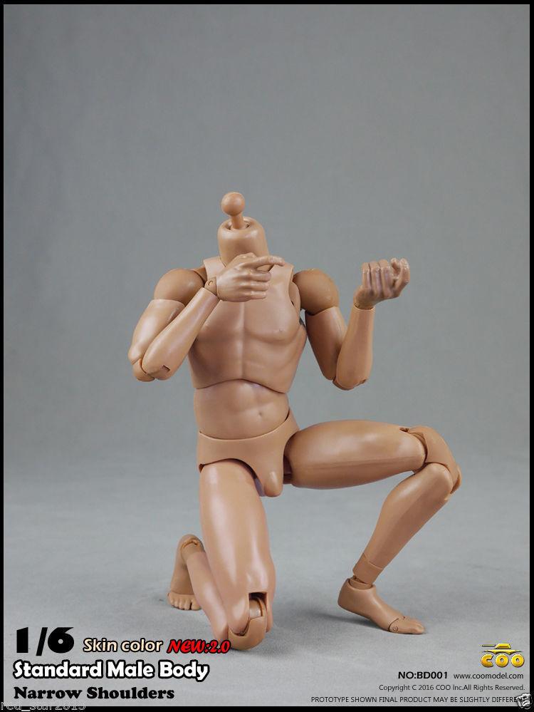 COOMODEL COO Standard Male Narrow Shoulders Body(25cm) Skin color 2.0 BD001