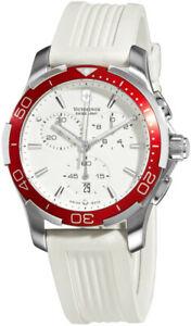 Suisse-Armee-Alliance-Sport-Chronographe-Acier-Montre-Femmes-Bracelet-Blanc-Date