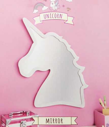 White Unicorn Wall Mirror Complete With Hooks Ready For Hanging 50 X 37cm