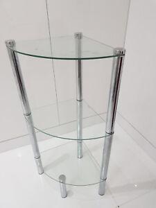 Details About Argos Matrix 3 Tier Glass Triangular Corner Unit Trophy Table