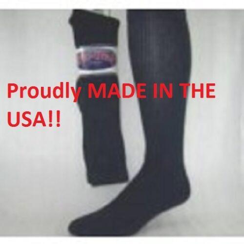 12 Pair Socks PRO-TREK  Navy Blue Over The Calf Crew Socks Size 10-13 USA Made