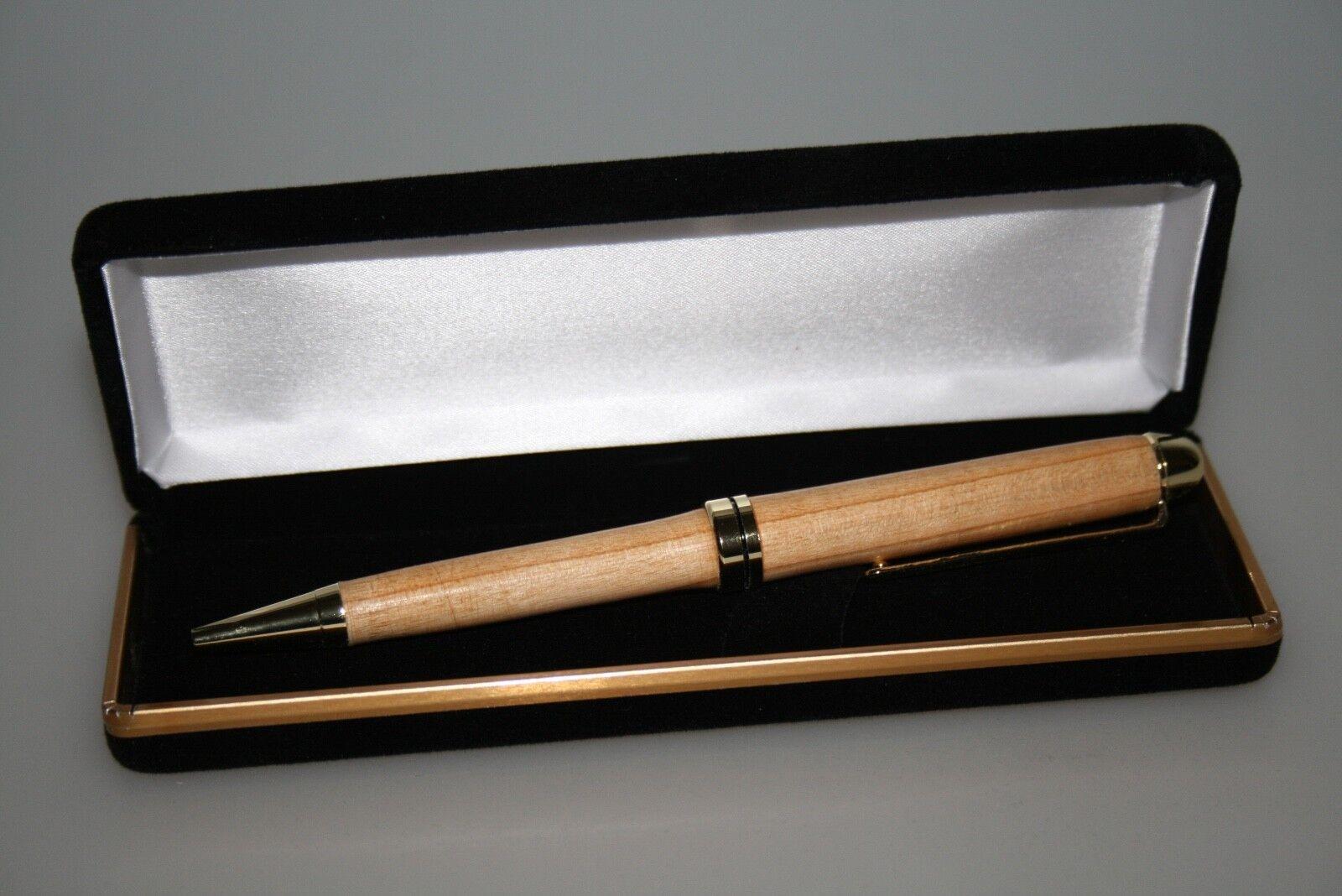 Kugelschreiber, Kugelschreiber, Kugelschreiber, handgedrechselt, hergestellt in D aus Wildkirsche 24kt verGoldet   Tragen-wider  ede4c0
