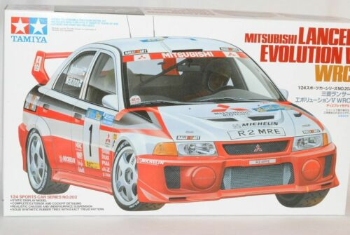 Mitsubishi Lancer Evolution evo v wrc 1998 makinen rally 24203 kit kit 1//2...