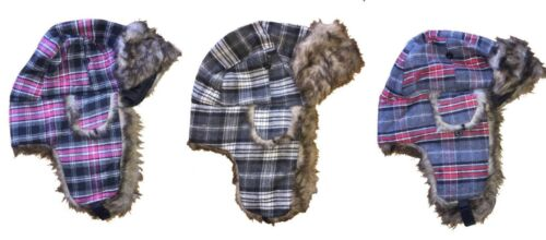 Nouveau Unisexe Adultes Hot Stuff Co russe hiver chaud Tartan Écossais Chapeau de trappeur