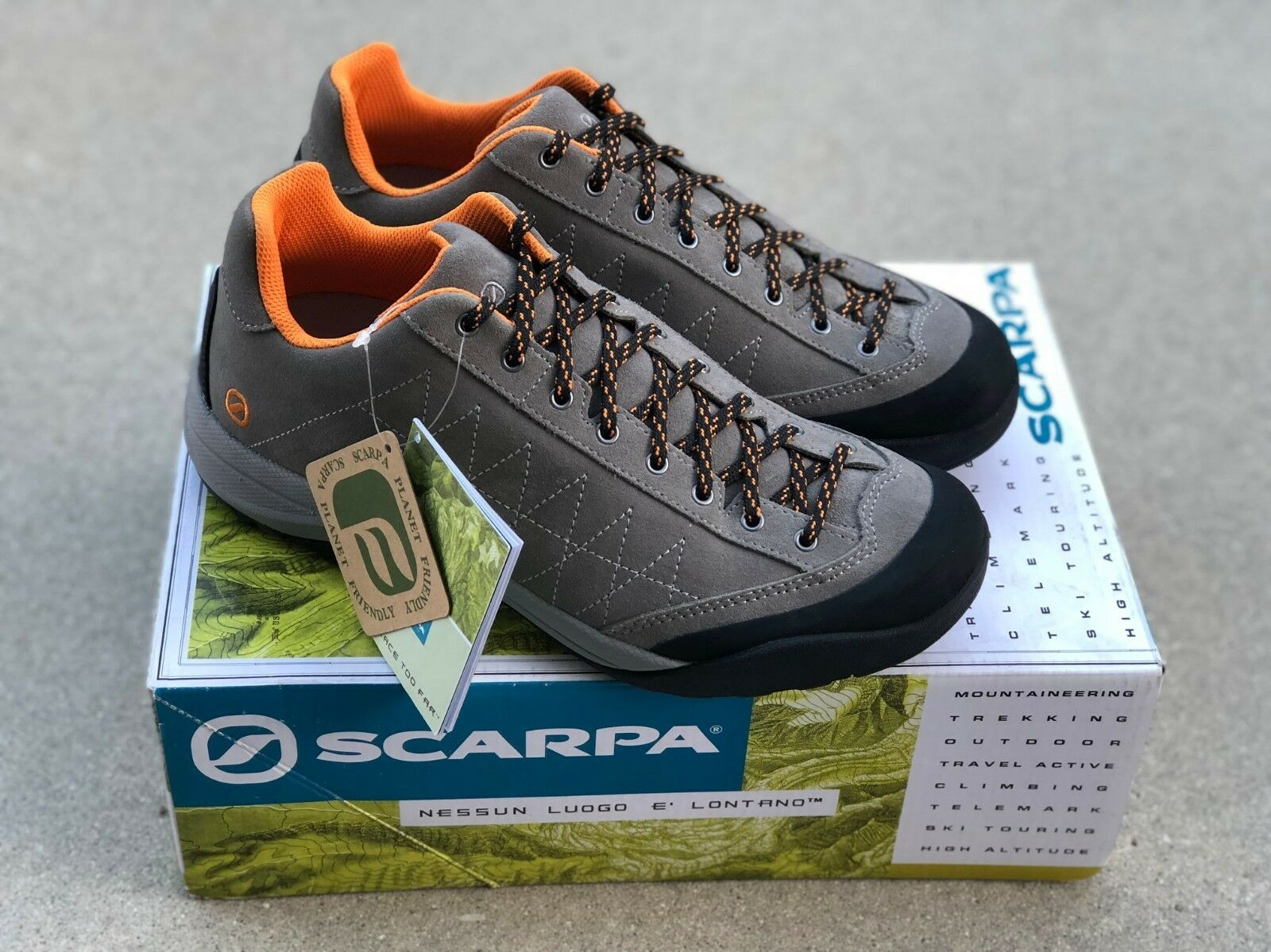 Scarpa MYSTIC LITE Sportive lightweight Approach shoe  Taupe orange Men's Size7.5  save up to 30-50% off