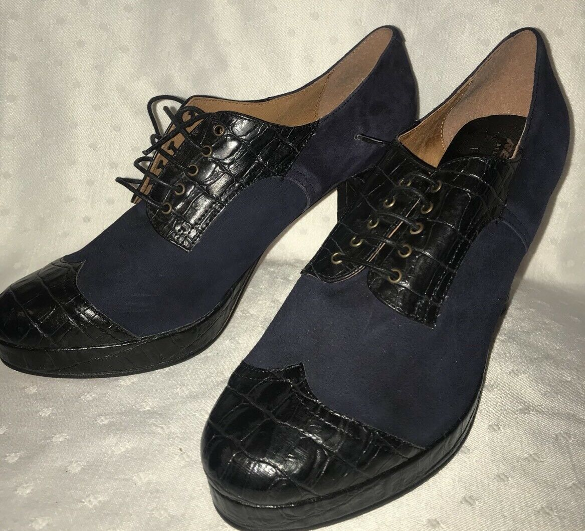 Re-Mix Classic Vintage Deluxe  Gramercy  Lace-up Oxfords - sz 9.5 NEW NO BOX