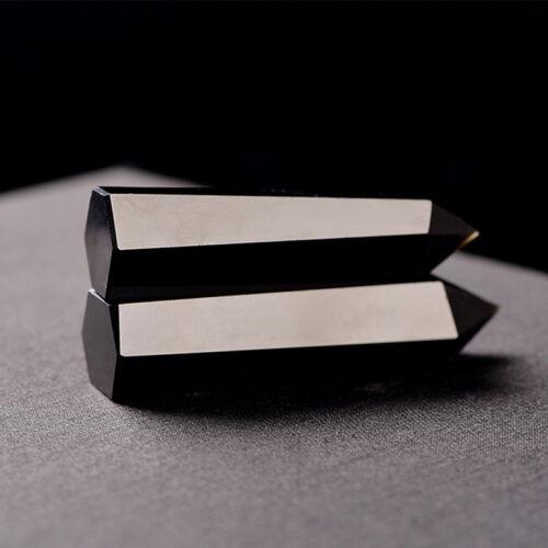 100/% obsidienne naturelle quartz noir cristal Pierre point de guérison