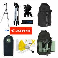Vivitar Photo 50 Tripod + Backpack + Remote For Canon Rebel Eos Dslr Cameras