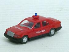 """Mercedes-Benz 260 E Einsatzwagen """"Feuerwehr"""" rot, Signalbox, Wiking, 1:87, o.OVP"""
