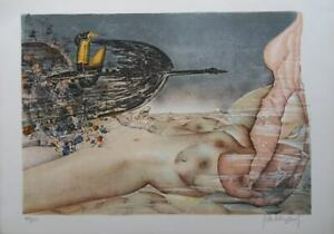 Brissaud-Patrick-Naked-Allongee-Lithography-Signed-Numbered-100ex