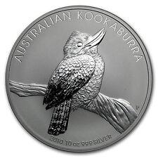 2010 Australia 10 oz Silver Kookaburra BU - SKU #54876