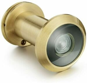 Security Door Eye Spy Hole Angle Peephole Viewer 200° Adjustable Glass Lens 16mm