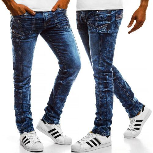 OZONEE Messieurs Jeans Tubes Jeans Straight Cut Jogger Pantalon Clubwear 6836 Mix