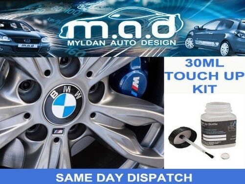 BMW FERRIC GREY 2 ALLOY WHEEL B55 TOUCH UP PAINT 30ML CURB SCRATCH M SPORT