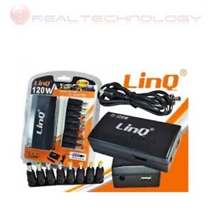 ALIMENTATORE UNIVERSALE NOTEBOOK 120W USB TOSHIBA HP ASUS ACER COMPAQ Linq
