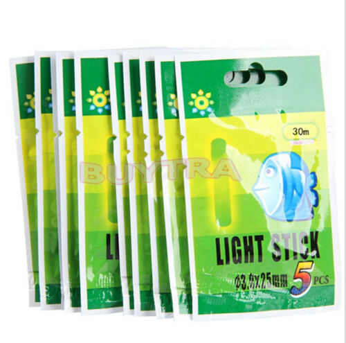 10Packs Fishing Fluorescent Lightstick Light Night Float Glow Stick For Fishing