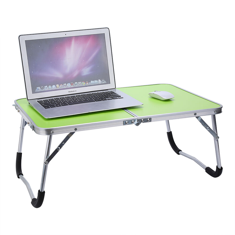New aluminium folding portable laptop stand desk camping for Futon portatil