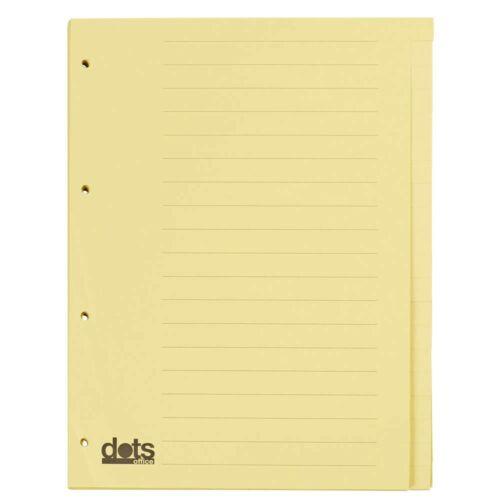 dots Register DIN A4 blanko gelb 20-teilig Karton Ordner Trennblätter Ablage!