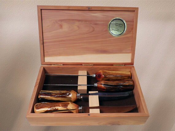 Sheffield Steak Knife Set with Hand-made Wood Handles