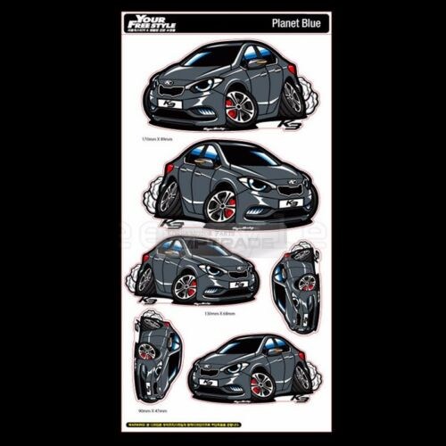 Graphic Decal Character Stickers 8 X 16inch 6Pin 1Sheet for KIA 2013-2018 Cerato