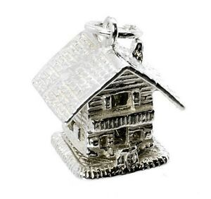 STERLING-SILVER-LARGE-OPENING-SWISS-SKI-LODGE-CHALET-CHARM