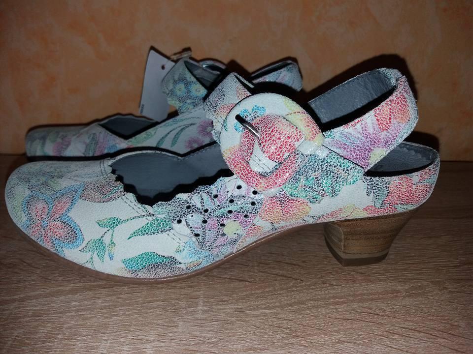 Abigail floral -/velcro Sling -/velcro floral de salón de vabeene nuevo Hell floral & cuero fc67f7