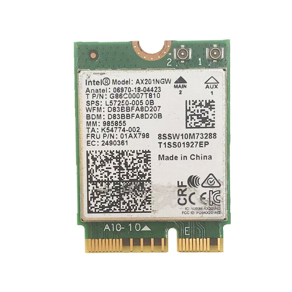 Intel AX201NGW AX201 NGFF CNVi Dual Band 802.11ac BT 5.0 2.4Gbps Network Card