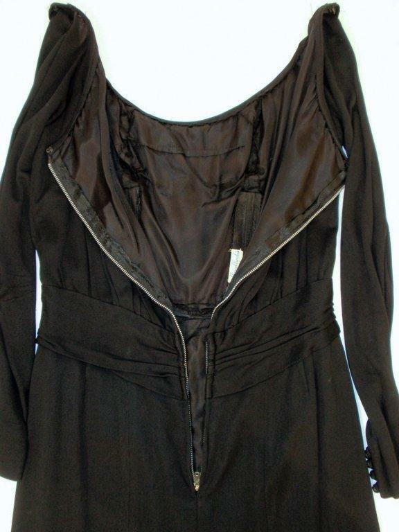 CEIL CHAPMAN Vintage Black Long Sleeve Jersey Coc… - image 7