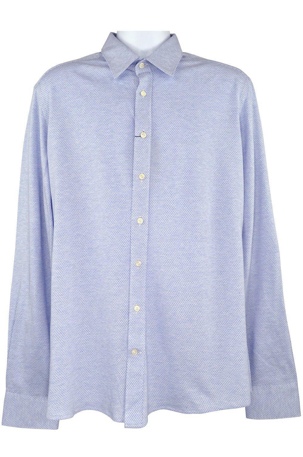 Hackett bleu clair Chemise à manches longues XL 130 RRP 130 XL D196 4476b0