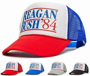 New Curved Bill Ronald Reagan George Bush 84 Campaign