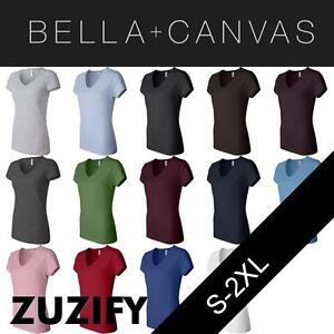 e47311bf0e0 Details about Bella + Canvas Ladies Junior Fit V-Neck Jersey T-Shirt. 6005