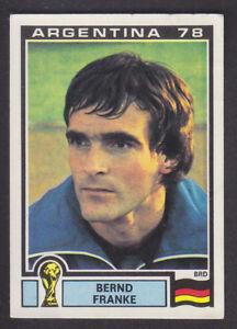 Panini-Argentina-78-Copa-del-Mundo-150-Bernd-Franke-Deutschland-BRD