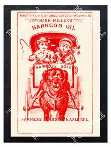 Historic-Frank-Miller-039-s-Harness-Oil-Advertising-Postcard