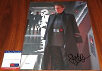 Domhnall Gleeson Signed 11x14 Star Wars The Force Awakens General Hux PSA/DNA