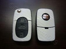 Carbon Weiß Dekor Schlüssel Folie Seat leon Golf Passat VW Bora Polo Skoda uvm
