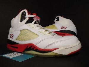 check out 06ab0 5c86f 2006 Nike Air Jordan V 5 Retro WHITE FIRE RED BLACK SILVER OG 136027 ...