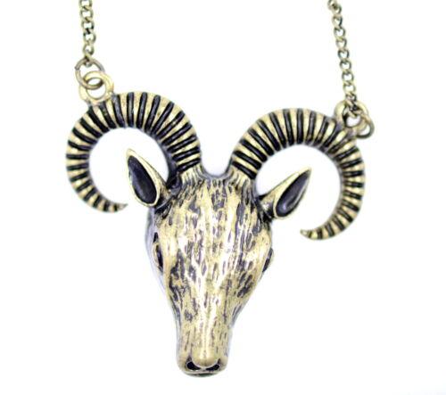 Vintage rétro style ancien bélier//bouc//bull head tête de mort bélier zodiaque