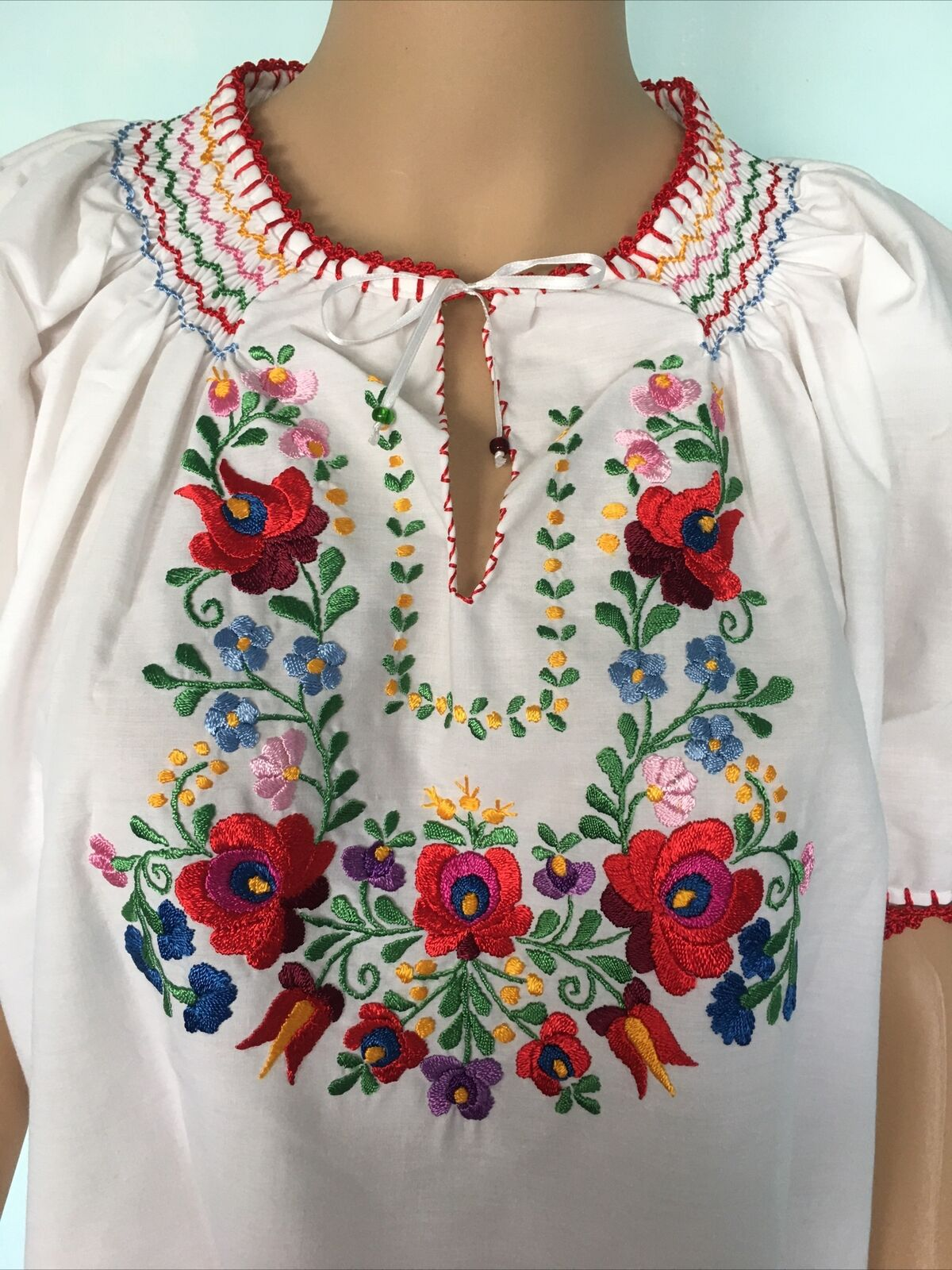 Traditional Hungarian Matyo Kalocsai Embroidered … - image 7