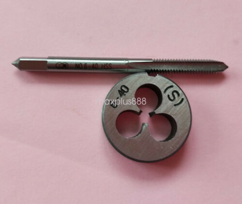 1pc HSS Machine 6-40 UNF Plug Tap and 1pc 6-40 UNF Die Threading Tool