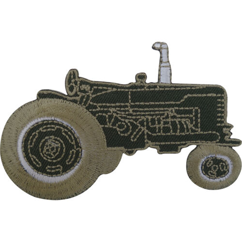 Tractor Patch Embroidered Badge Farmer Iron On Sew On Clothes T Shirt Jacket Bag