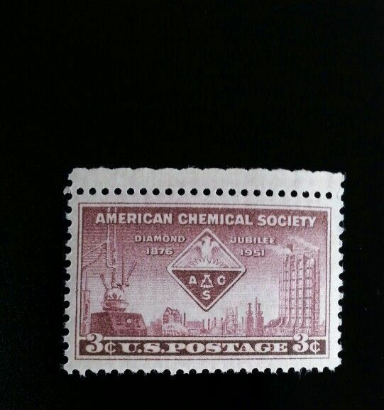 1951 3c American Chemical Society, 75th Anniversary Sco