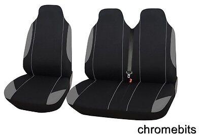2+1 Grigio Retro Comfort Tessuto Coprisedili Per Ford Transit Custom Squisita Arte Tradizionale Del Ricamo