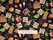 Christmas Kitchen Pie Cake Bake Gingerbread Cotto Fabric QT Bakers Dozen YARD