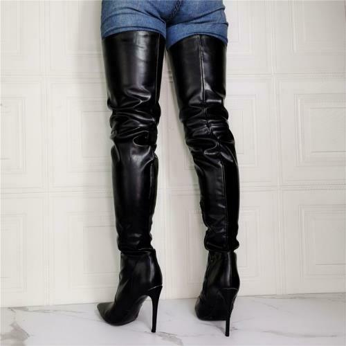 Details about  /Sexy Ladies Party Thigh Boots High Stilettos Heels Over Knee Club Shoes 44//47 L