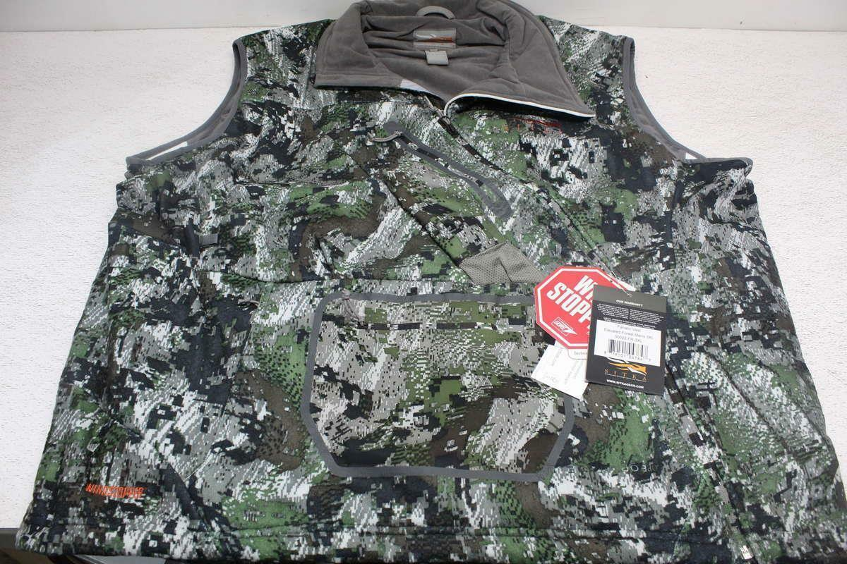 Sitka Men's US 3XL Fanatic Vest Elevated Forest 30022. MSRP   199.99  discount