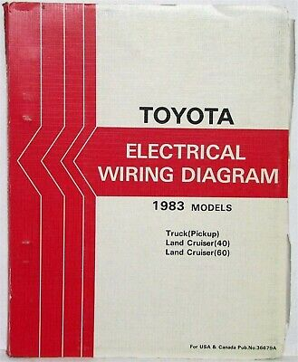 1983 toyota truck and land cruiser electrical wiring diagram manual us &  canada | ebay  ebay