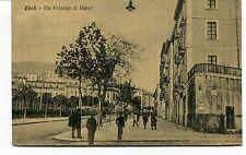 1934 Eboli Via Principe di Napoli carrozza Salerno Frosinone FP B/N VG ANIM