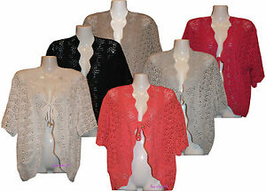 Ladies-Women-s-Knitted-Shrugs-Bolero-Cardigans-Jumpers-Tops-Plus-Sizes-14-to-32