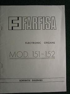 Farfisa-Electronic-Organ-Model-151-152-Schematic-Diagram-Manual